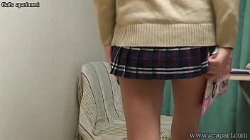 Japanese Schoolgirl Caught Masturbating Under Desk