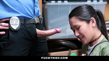 Cute Asian Teen Busted For Shoplifting