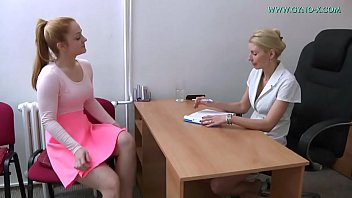 Rectal exam and nurse and lesbian Alex ginger 19 yo went to her gynecologist