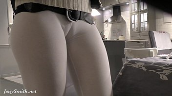 Tight clothes tgp Jeny smith camel toe white leggings