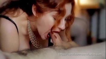Camille Crimson  Hot Blowjob In A Sexy Corset  A Sexy Corset