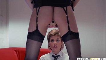 LesbianCUMS.com ⇨ Pervert Lesbian Teacher Seduces College Teen