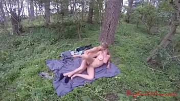 Young Guy Fucks An Adult Lady With Beautiful Boobs Right In The Forest