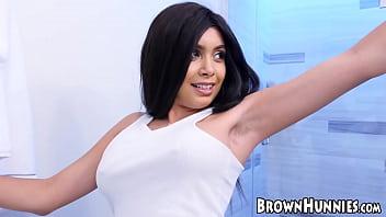 Brown hunny Aaliyah Hadid fucked in both tight holes thumbnail