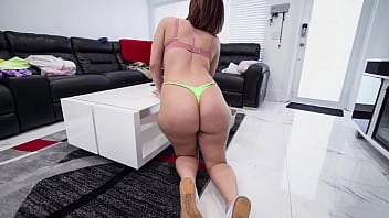 BANGBROS - Standing Dildo Challenge With PAWG Housekeeper Valentina Jewels