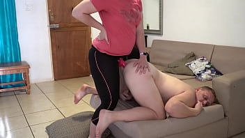 Hot Prostate Massage Pegging Strapon Fuck Thick Load of Cum!