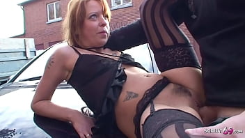 Real Ginger Street Whore Outdoor No Condom Sex with Stranger