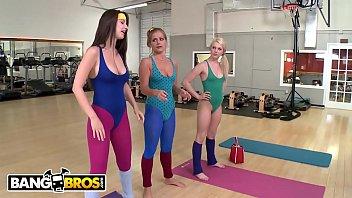 BANGBROS - Yoga Lesbian Threesome With Mercedes Lynn, Karina White, And Chloe Lynn