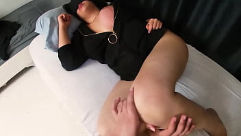 Sneaking Into Stepmom And Wakes Her Up With Alarm Cock.
