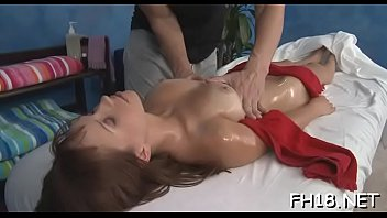Beautiful sex in massage parlor - Leggy beauty bounds on ramrod before sex in doggy fashion