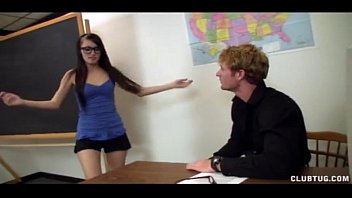 mia khalifa creampie - Eyed Schoolgirl Jerks The Teacher thumbnail