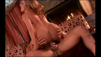 Longhaired gym rat penetrates pretty babe with gaunt figure Lexi Love to the strains of wood fire in the chimney place