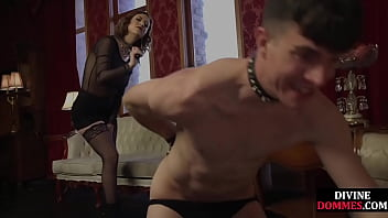 Femdom Whips And Gives Cbt Treatment To Worthless Guy Before Ruthlessly Pegging Him