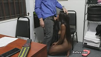 Black suspect gags officers dick at his office