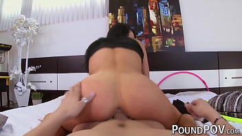 Audrey Bitoni gives a close up for her tits before pounding