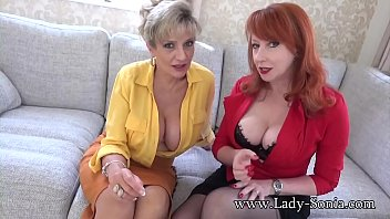 JOI from busty British matures Lady Sonia and Red XXX 8 min