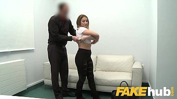 Fake Agent Amateur Model gets her first taste of casting cock