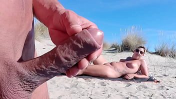 He Pulls Out His Big Cock In Front Of This Stranger ... How Will She React ...? It Is Really Risky!