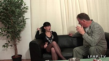 Petite french sodomized and double penetrated for her casting 31 min