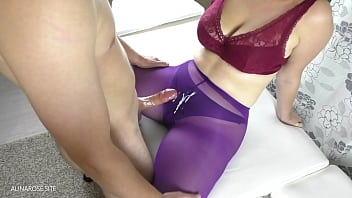 Teen Step Sister Asked To Cum On Her Pantyhose - Amateur Porn