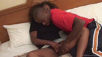 Black amateur couple in a hot scene thumbnail