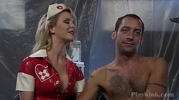 Matured man got tied and fucked by a Nurse