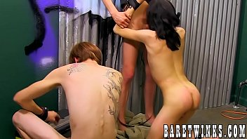 BDSM orgy and rough fucking with young skinny twinks