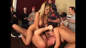 Chaynes porn vid Horny frat guys get two sweet ass coed babes haley paige and allysin chaynes to suck twats and fuck on table a front of few spectators