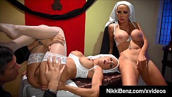 Catholics Nikki Benz & Jessica Jaymes Fuck Man Of The Cloth?