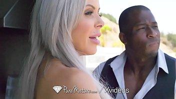 PUREMATURE Interracial anal fuck with seductive MILF
