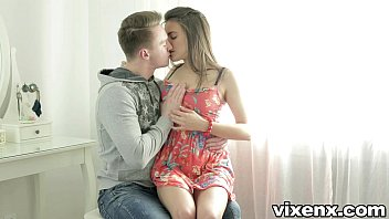 Vixenx Tight Brunette Teen Backdoor Anal Sex Finished With Facial