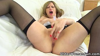 A maid outfit sends Posh Sophia into a fingering frenzy