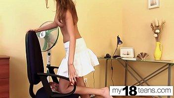 MY18TEENS - Schoolgirl Masturbate Wet Pussy in the Evening صورة