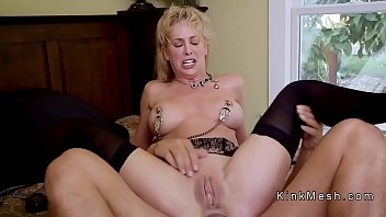 Milf gets anal fist and pussy fuck