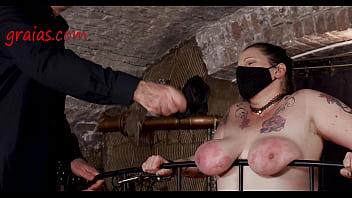 She's Rece iving Hard Strokes On Her Poor kes On Her Poor Slave Flesh