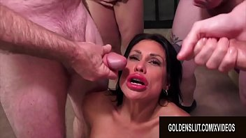 Golden Slut - Mature Blowbang Compilation Part 2