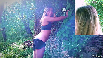 Teen Amateur Outdoor in the Forest – Cloted Quickie Standing Fuck