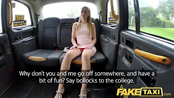 Fake Taxi Skipping college for backseat sex in taxi thumbnail