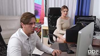 Coworker sucking cock Cock sucking at the office gives busty nikky dream chills of pleasure