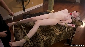 Blonde gets rough anal fucked bdsm
