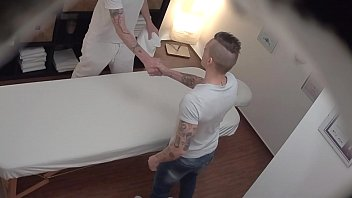 Gay guys cuning - Young straight guy gets anal fuck on massage table