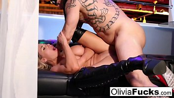 thumb stacked blonde  stripper takes on a customer i on a customer i on a customer in