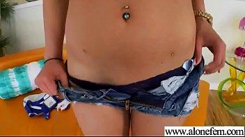 Masturbation Using Dildos By Horny Alone Girl (penelope stone) clip-19