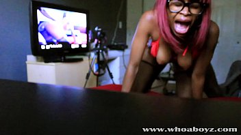 Blackteen sex - Black teen ebony banks gets her first anal creampie by bbc