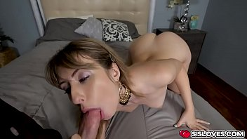 Petite blondie pops out her pussy and lets stepbro fuck her hard