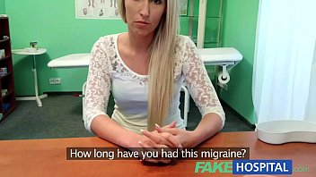 Sex curing headaches - Fakehospital blonde womans headache cured by cock and her squirting wet pussy