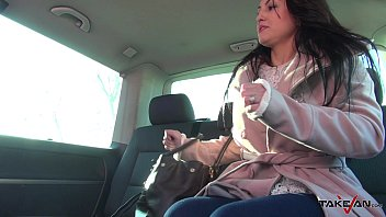Ride of her life from back seat in driving van 23 min