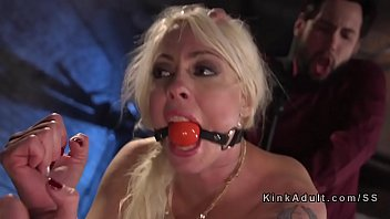 Rough painful fist fucks Busty gagged blonde got anal fucked