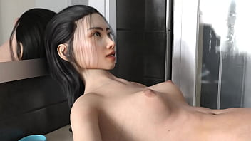 Maid fucked a man in his Shower