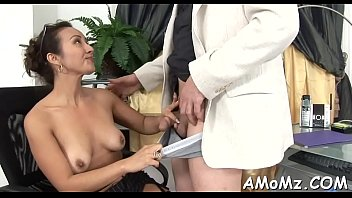 Sex addicted mamma in a hot act